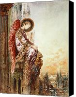 Watercolor Canvas Prints - Angel Traveller Canvas Print by Gustave Moreau