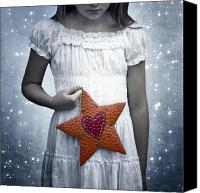 Angelic Canvas Prints - Angel With A Star Canvas Print by Joana Kruse