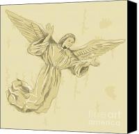 Cherub Canvas Prints - Angel with arms spread Canvas Print by Aloysius Patrimonio