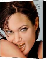 Jolie Canvas Prints - Angelina Jolie - cold seduction  Canvas Print by Reggie Duffie
