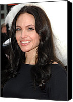 Jolie Canvas Prints - Angelina Jolie At Arrivals For Dvd Canvas Print by Everett