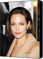 Jolie Canvas Prints - Angelina Jolie At Arrivals For Los Canvas Print by Everett