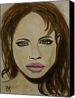 Jolie Canvas Prints - Angelina Jolie Canvas Print by Pete Maier