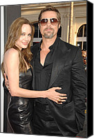 Jolie Canvas Prints - Angelina Jolie Wearing A Michael Kors Canvas Print by Everett