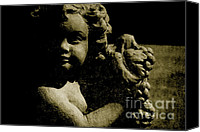 Still Life Sculpture Photo Canvas Prints - Angelina My Little Angel Canvas Print by Susanne Van Hulst