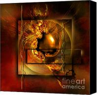 Orange Digital Art Canvas Prints - Angelos Canvas Print by Franziskus Pfleghart
