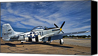 P51 Mustang Canvas Prints - Angels Playmate  Canvas Print by Steven Richardson