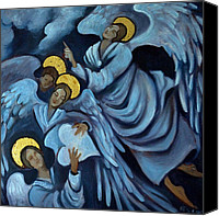 Angel Blues  Painting Canvas Prints - Angels Canvas Print by Valerie Vescovi