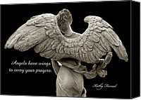 Angel Photographs Photo Canvas Prints - Angels Wings - Inspirational Angel Art Photos Canvas Print by Kathy Fornal