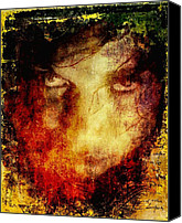 Anger Digital Art Canvas Prints - Anger Canvas Print by Gun Legler