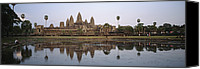 Religious Structures Canvas Prints - Angkor Wat, A Buddhist Temple Canvas Print by Justin Guariglia