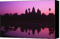 Moat Canvas Prints - Angkor Wat Canvas Print by Allan Seiden - Printscapes