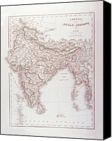 Antique Map Digital Art Canvas Prints - Anglo-indian Empire Canvas Print by Fototeca Storica Nazionale