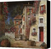 Red Door Canvas Prints - Angolo Buio Canvas Print by Guido Borelli