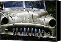 Rusted Cars Canvas Prints - Angry Canvas Print by Joan Carroll