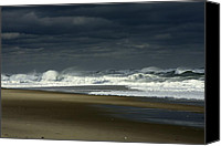 Nauset Beach Canvas Prints - Angry Nauset Canvas Print by Dapixara Art
