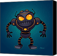 Artificial Intelligence Canvas Prints - Angry Robot Canvas Print by John Schwegel