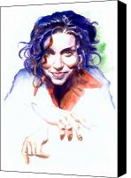 Singer Painting Canvas Prints - Ani DiFranco Canvas Print by Ken Meyer jr