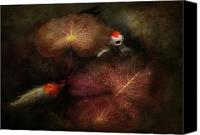 Talking Canvas Prints - Animal - Fish - I will grant your wishes three Canvas Print by Mike Savad