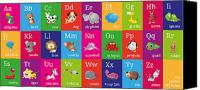 Alphabet Digital Art Canvas Prints - Animal Alphabet Canvas Print by Michael Tompsett