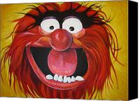 Cartoon Drawings Canvas Prints - Animal Canvas Print by Steve Hunter
