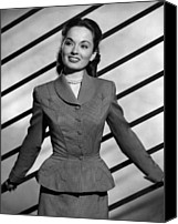 Choker Canvas Prints - Ann Blyth, Ca. 1940s Canvas Print by Everett