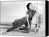 1950s Fashion Canvas Prints - Ann Miller, Portrait, Circa 1956 Canvas Print by Everett