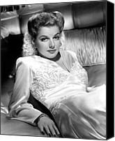 Satin Dress Canvas Prints - Ann Sheridan, 1943 Canvas Print by Everett