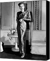Gold Lame Canvas Prints - Ann Sheridan, Portrait, Circa 1946 Canvas Print by Everett