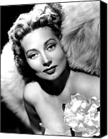 Sothern Flower Canvas Prints - Ann Sothern, Publicity Shot Canvas Print by Everett
