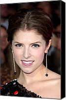 Dangly Earrings Canvas Prints - Anna Kendrick Wearing Neil Lane Canvas Print by Everett