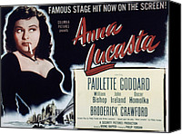 1949 Movies Canvas Prints - Anna Lucasta, Paulette Goddard, 1949 Canvas Print by Everett