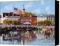 Stars And Stripes Canvas Prints - Annapolis Canvas Print by Guido Borelli