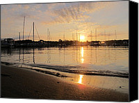 Scenery Pyrography Canvas Prints - Annapolis Sunrise Canvas Print by Valia Bradshaw