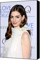 Half-length Canvas Prints - Anne Hathaway At Arrivals For Love And Canvas Print by Everett