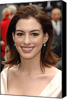 At The Press Conference Canvas Prints - Anne Hathaway At The Press Conference Canvas Print by Everett