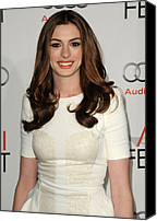 Half-length Canvas Prints - Anne Hathaway Wearing An Antonio Canvas Print by Everett