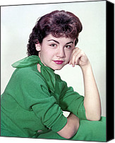 1950s Fashion Canvas Prints - Annette Funicello, Ca 1950s Canvas Print by Everett
