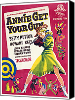 1950s Movies Canvas Prints - Annie Get Your Gun, Betty Hutton, 1950 Canvas Print by Everett