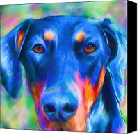 Doberman Prints Canvas Prints - Annie Canvas Print by Suzanne Batchelor