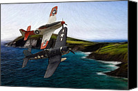P51 Mustang Canvas Prints - Anno 1944 Canvas Print by Stefan Kuhn