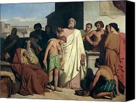 Toga Canvas Prints - Annointing of David by Saul Canvas Print by Felix-Joseph Barrias