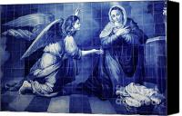 Annunciation Canvas Prints - Annunciation Canvas Print by Gaspar Avila