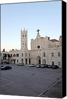 Annunciation Canvas Prints - Annunciation Latin Church in Beit Jala Canvas Print by Munir Alawi