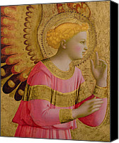 Annunciation Canvas Prints - Annunciatory Angel Canvas Print by Fra Angelico