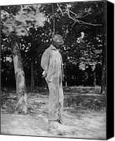 African Americans Photo Canvas Prints - Anonymous African American Lynching Canvas Print by Everett