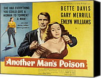 1950s Poster Art Canvas Prints - Another Mans Poison, Gary Merrill Canvas Print by Everett
