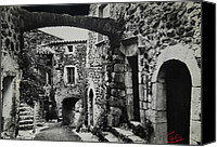 Colette Canvas Prints - Another Residence in Childhood Alba France Ardeche Canvas Print by Colette Hera  Guggenheim
