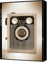 Film Camera Canvas Prints - Ansco Shur Shot Canvas Print by Mike McGlothlen