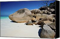 Ocean Photography Canvas Prints - Anse Lazio Beach Canvas Print by Dhmig Photography